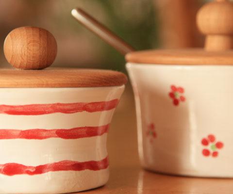 Marmelade- und Zuckerdosen